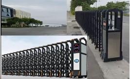 Cổng xếp nhôm tự động, Cổng xếp tự động lắp tại Bình Dương