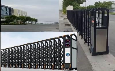 Cổng xếp hợp kim nhôm-  Trúng thầu tại CTY Tín An, Bình Dương