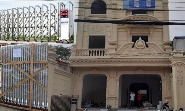Cửa cổng xếp tự động lắp tại Bình Phước