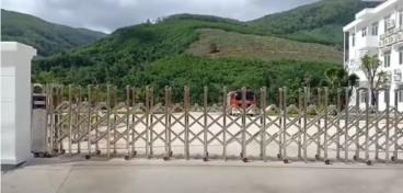 Cổng xếp inox LBSKY trúng thầu tại Hầm Cù Mông -Bình Định, Phú yên