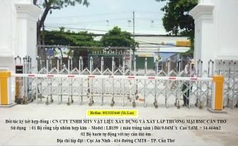 Thanh chắn barrier lắp tại Cần Thơ