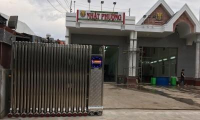 Cổng xếp inox tự động cao 1,8m lắp tại Mỹ Xuyên- Sóc Trăng