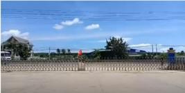 Cổng xếp inox, Cổng xếp tự động nhập khẩu lắp tại Bình Thuận
