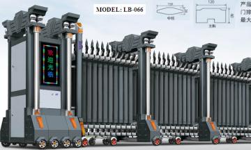 Cổng xếp nhôm hợp kim LB066