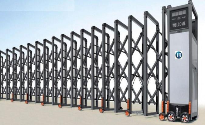 Cổng xếp nhôm tự động- Nhập khẩu 100%